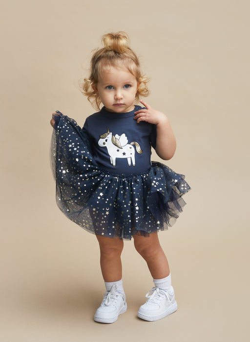 HUXBABY UNICORN BALLET DRESS INK