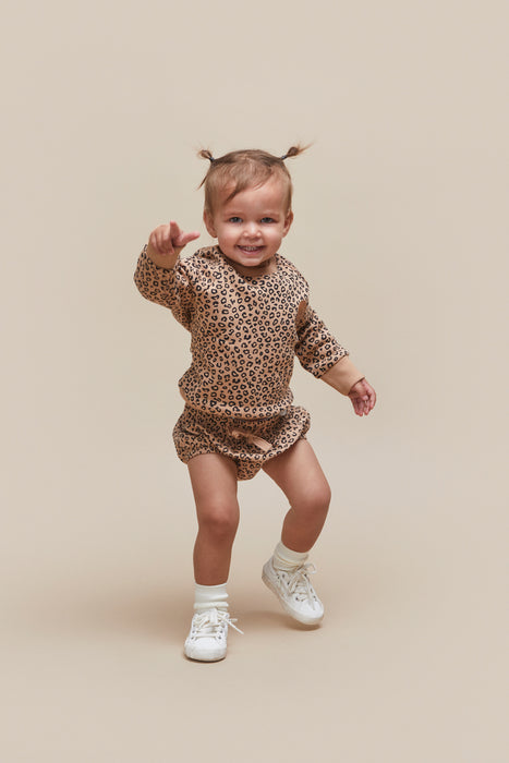 HUXBABY ANIMAL BLOOMER CARAMEL