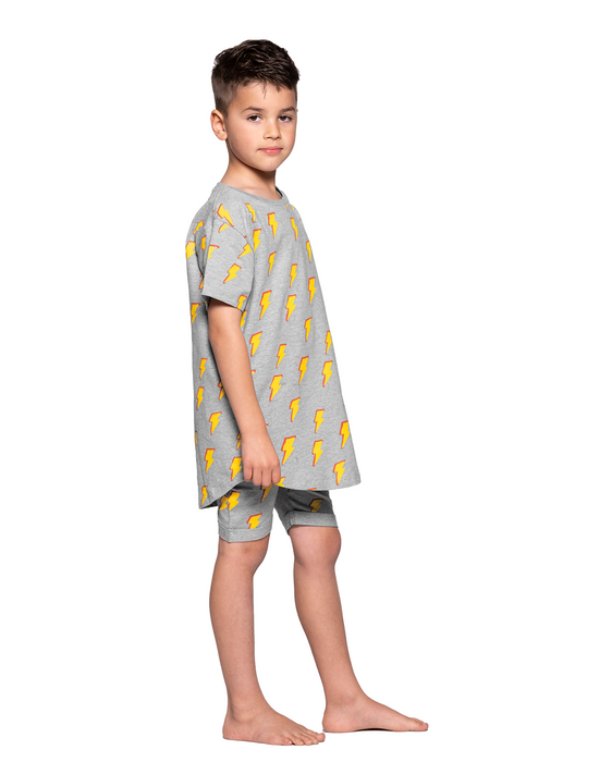 BAND OF BOYS SUMMER PJS ITS ELECTRIC MARLE GREY