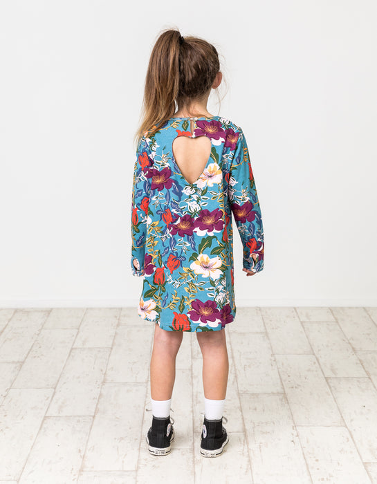 KISSED BY RADICOOL WINTER FLORAL HEART DRESS