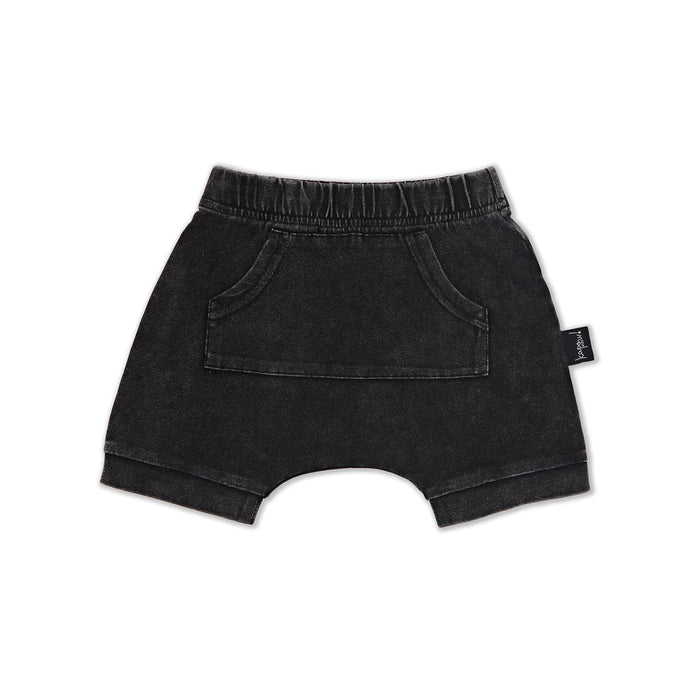 KAPOW KIDS DENIM SHORTS ACID BLACK