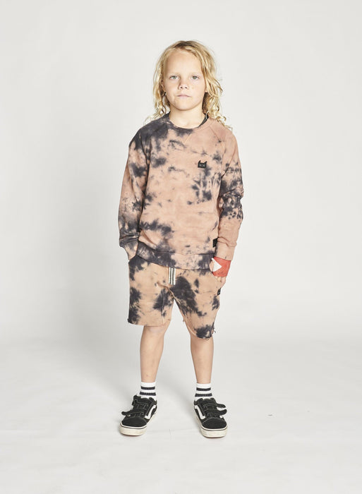 MUNSTER SPLAT SHORT TIE DYE RUST