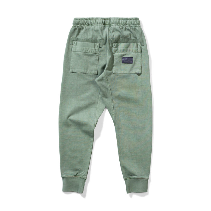 MUNSTER EVERYDAY PANT WASHED OLIVE.