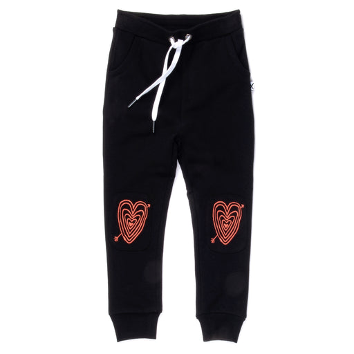 MINTI HEARTS ON HEARTS FURRY PATCH TRACKIES BLACK (PRE ORDER)
