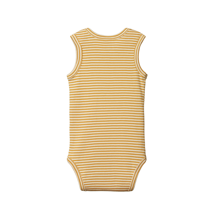 NATURE BABY SINGLET BODYSUIT HONEY STRIPE