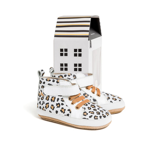 PRETTY BRAVE HI TOP WHITE LEOPARD