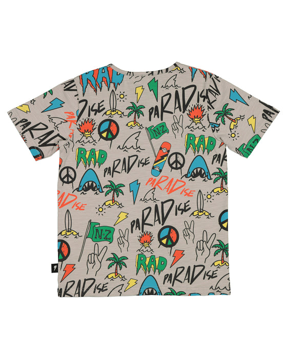 RADICOOL BEACHED GRAFFITI TEE