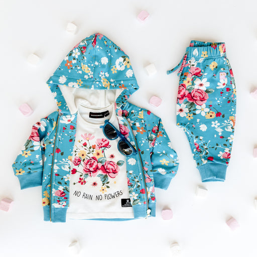 ROCK YOUR KID FRENCH ROSE TRACK PANTS FLORAL (PRE ORDER)