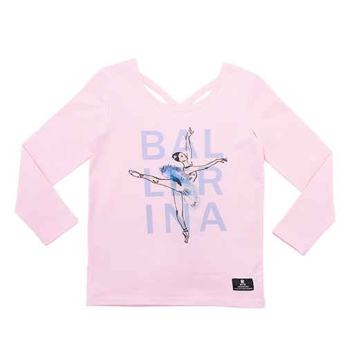 ROCK YOUR BABY LONG SLEEVE BALLERINA T-SHIRT PINK