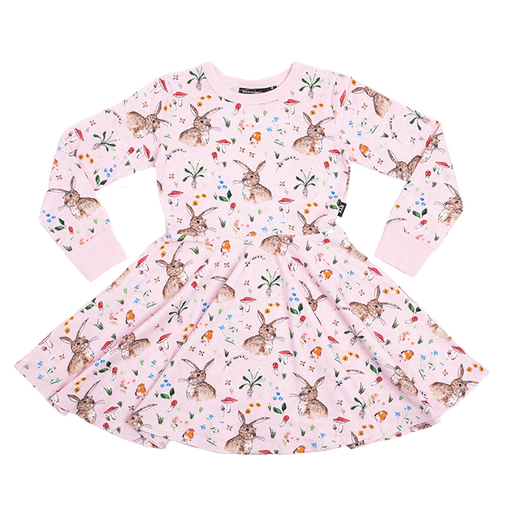 ROCK YOUR KID LONG SLEEVE COTTON TAIL WAISTED DRESS