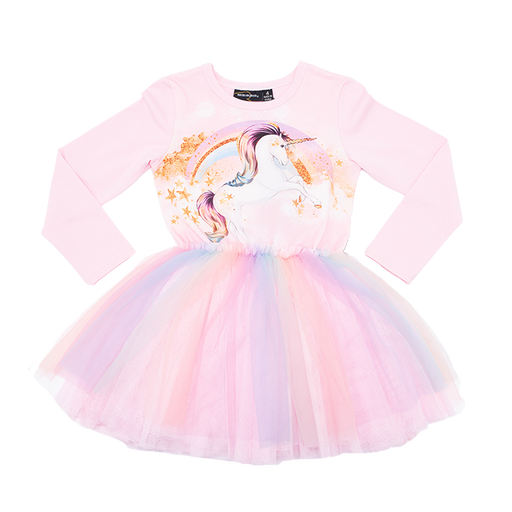 ROCK YOUR KID LONG SLEEVE STAR GAZER CIRCUS DRESS (PRE ORDER)