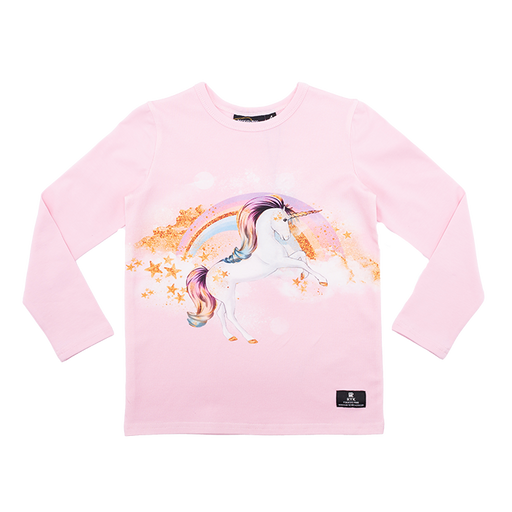 ROCK YOUR KID LONG SLEEVE STAR GAZER T-SHIRT PINK (PRE ORDER)