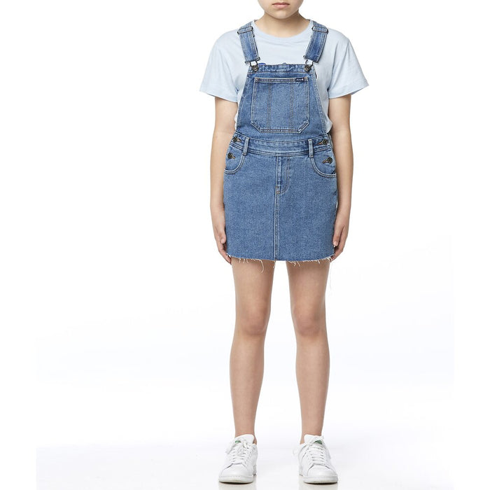 RIDERS BY LEE DUNGAREE DRESS - MID VINTAGE