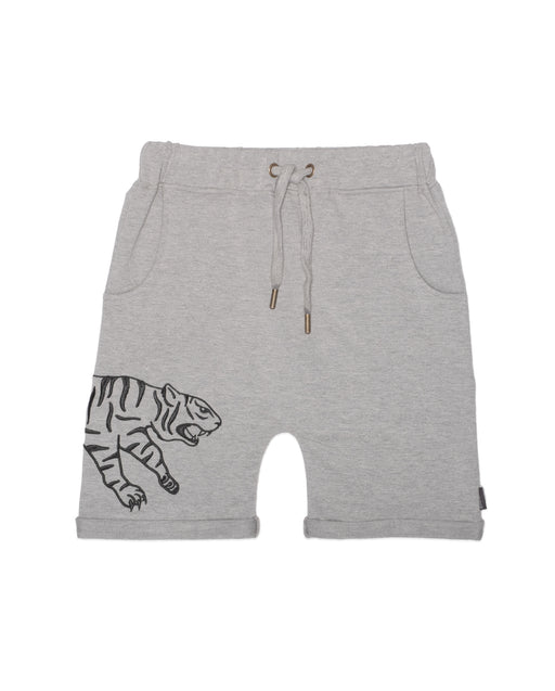 BAND OF BOYS POUNCING TIGER SHORTS - GREY MARLE