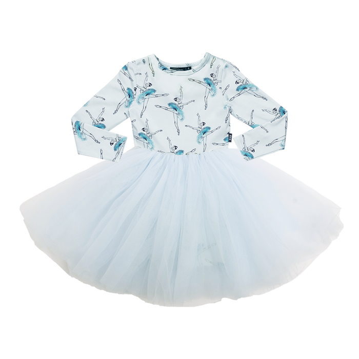 ROCK YOUR KID LONG SLEEVE LETS DANCE FLOUNCE DRESS BLUE