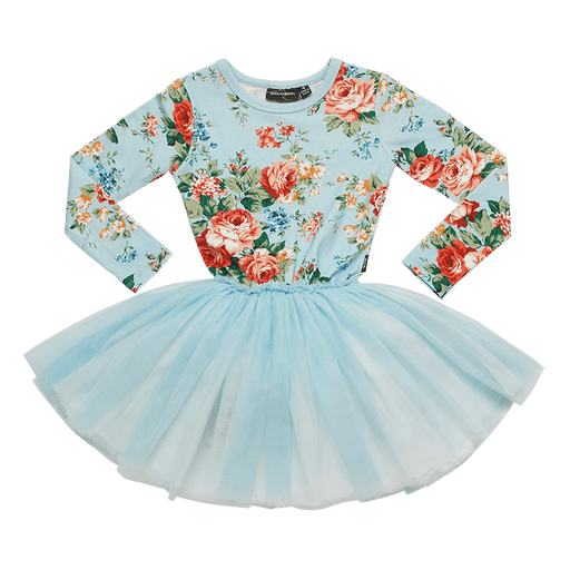 ROCK YOUR KID LONG SLEEVE FRENCH FLORAL CIRCUS DRESS (PRE ORDER)