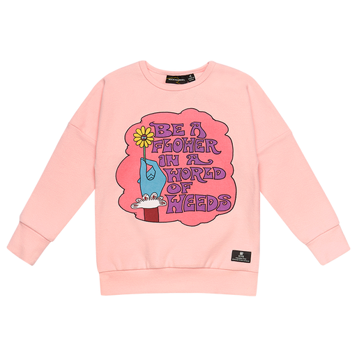 ROCK YOUR KID LONG SLEEVE BE A FLOWER T-SHIRT PINK