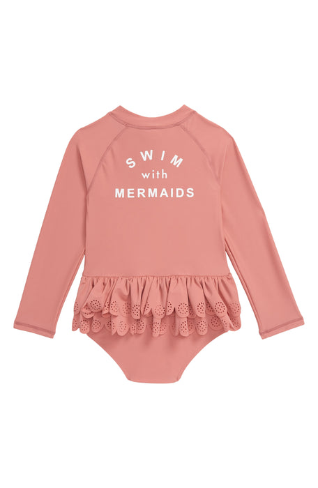 TINY TRIBE MERMAIDS FRILL ALL IN ONE SWIM SUIT