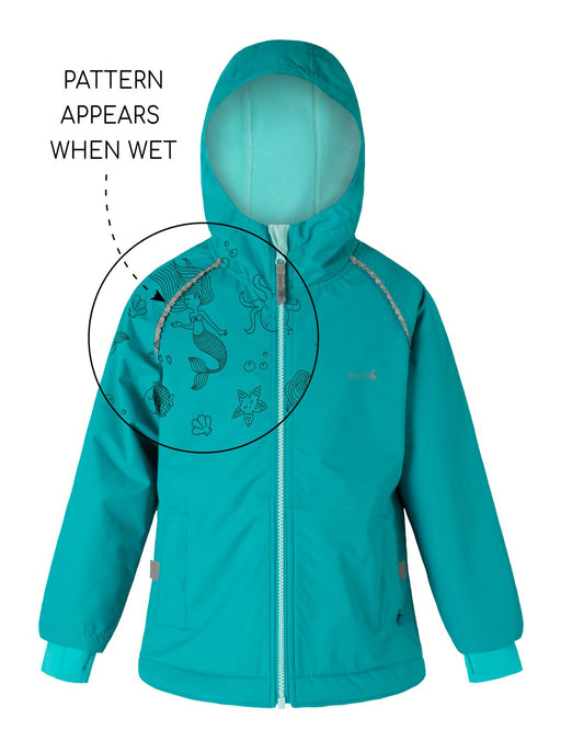 THERM SPLASHMAGIC STORM JACKET GIRLS OCEAN TURQUOISE