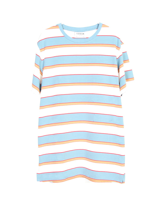 MINI FED RAD TEE - SLATE STRIPE