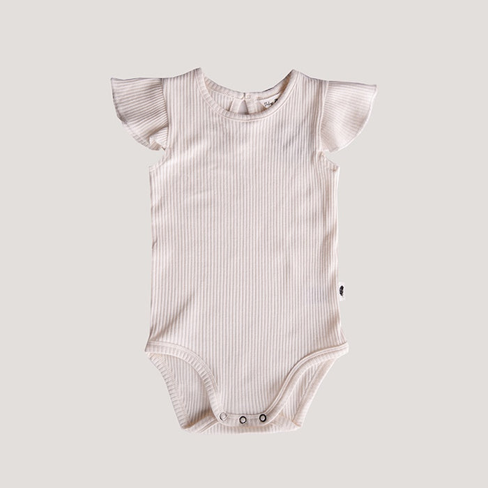 THE VINTAGE PLUME RIB RILEY BODYSUIT - VANILLA