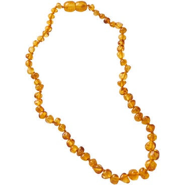 NATURE BABY AMBER TEETHING BEAD NECKLACE HONEY