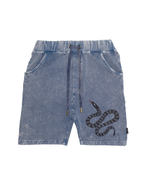 BAND OF BOYS SHORTS RELAXED SNAKE ON SNAKE VINTAGE BLUE