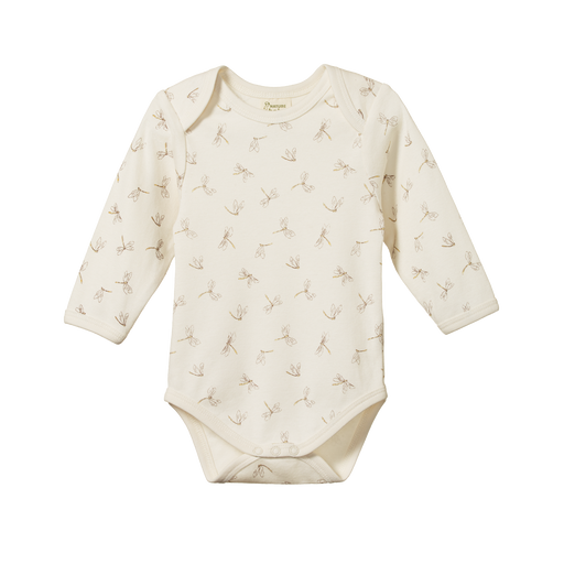 NATURE BABY LONG SLEEVED BODYSUIT DRAGONFLY PRINT