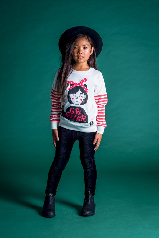 ROCK YOUR KID BLACK CORDUROY KNEE PATCH TIGHTS