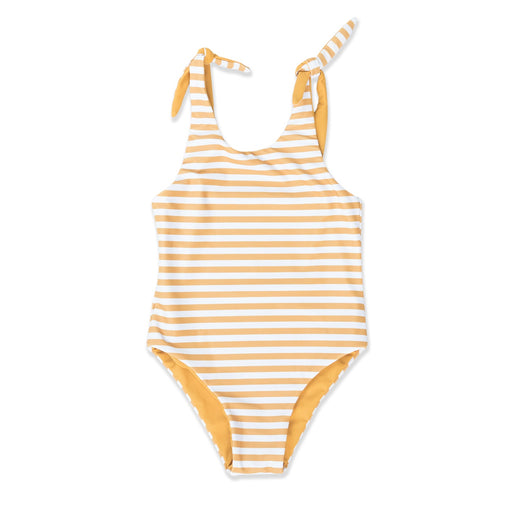 HELLO STRANGER DYLAN REVERSIBLE ONE PIECE MUSTARD STRIPE