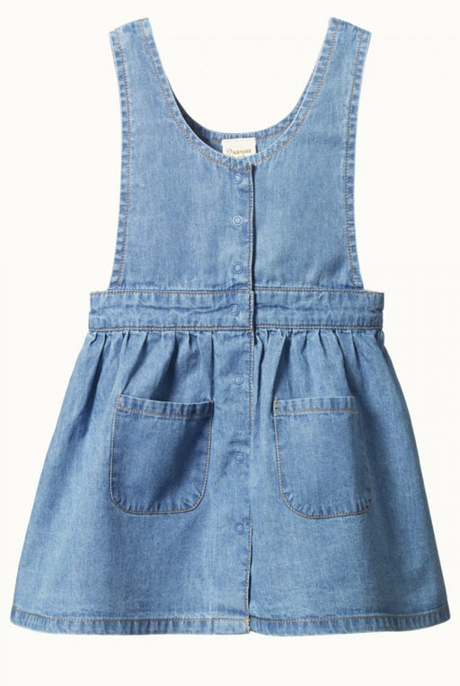 NATURE BABY CHAMBRAY PIA PINAFORE SKY