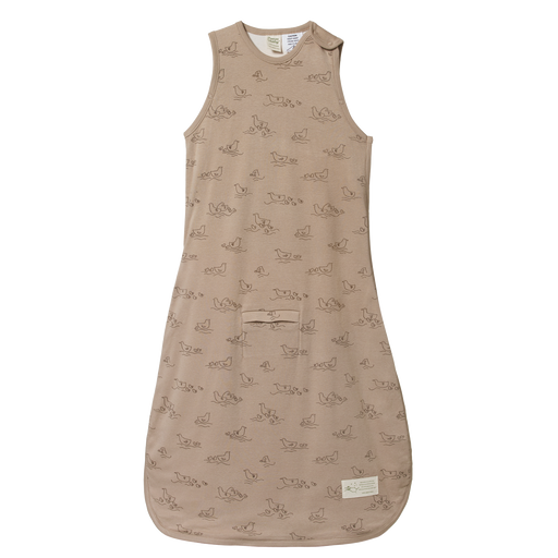 NATURE BABY COTTON AND MERINO SLEEPING BAG POND SLEEPWEAR PRINT