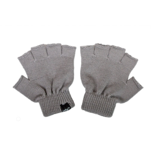 LFOH DOUBLE TROUBLE KNITTED MERINO BABY GLOVES GREY