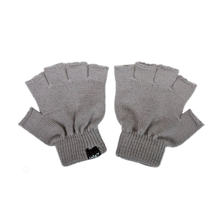 LFOH DOUBLE TROUBLE KNITTED MERINO KIDS GLOVES GREY