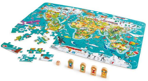 HAPE 2-IN-1 WORLD TOUR PUZZLE & GAME