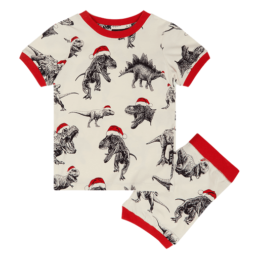 ROCK YOUR KID JOLLY JURASSIC PYJAMA SET OATMEAL