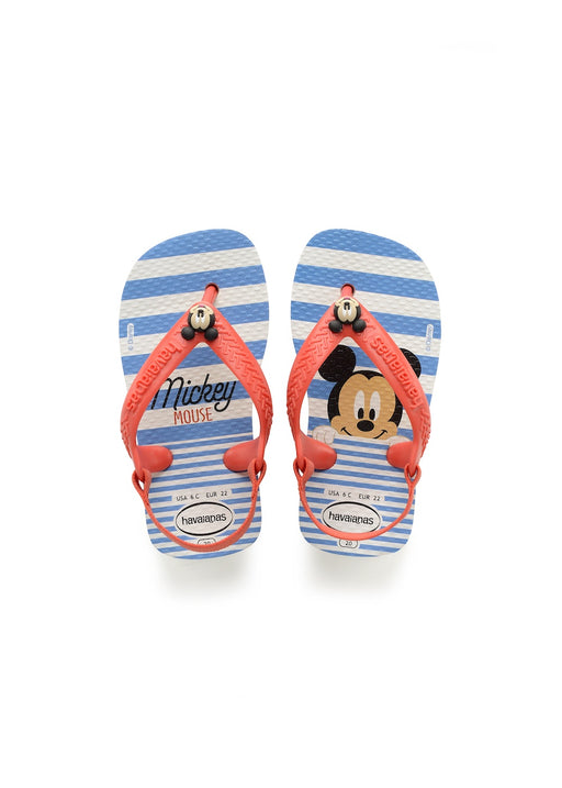 HAVAIANAS BABY CLASSICS - WHITE/STRAWBERRY