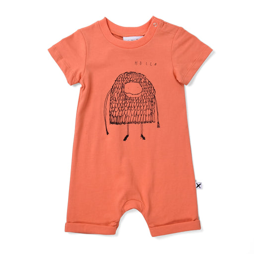 MINTI BABY HELLO GOODBYE MONSTER BROOKLYN PLAYSUIT