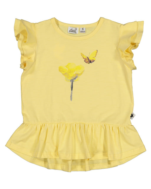 KISSED HEY BUTTERCUP FRILL TEE (PRE ORDER)