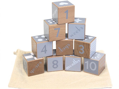 DISCOVEROO WOODEN SHAPE & NUMBER BLOCKS