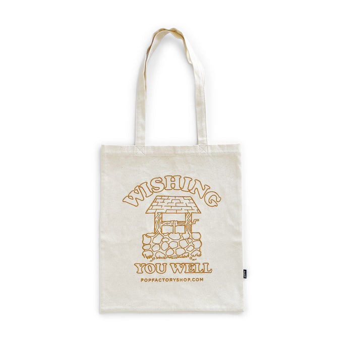 POP FACTORY WISHING TOTE - NATURAL CANVAS