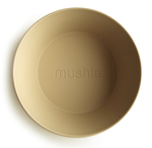 MUSHIE DINNERWARE ROUND BOWL SET OF 2 - MUSTARD