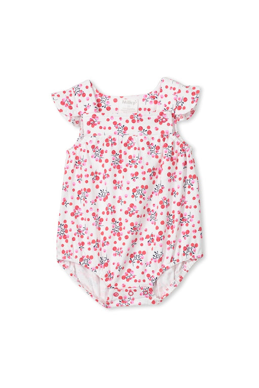 MILKY BABY BERRIES PLAYSUIT WHITE