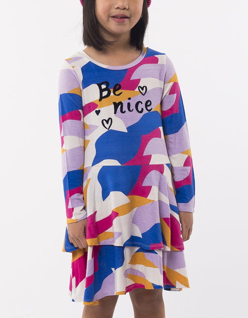 EVES SISTER BE NICE DRESS RAINBOW CAMO
