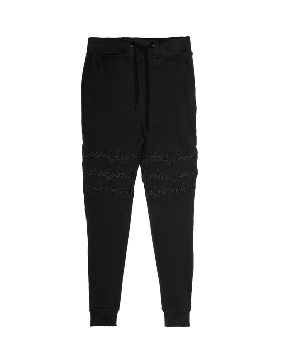 BAND OF BOYS BANDITS TRACKIES SKINNY BAND OF STRIPES BLACK