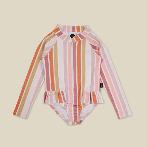 KAPOW KIDS BEACH STRIPE RASHIE BATHERS