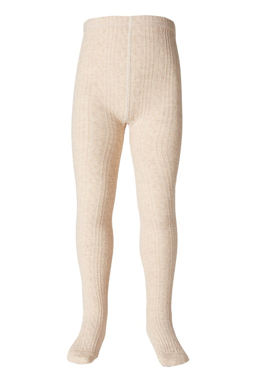 MILKY JAQUARD TIGHTS OATMEAL