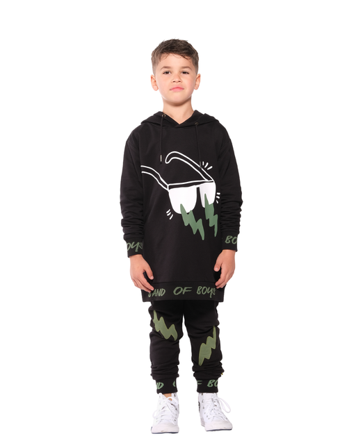 BAND OF BOYS TRACKIES SKINNY DOUBLE LIGHTNING BLACK