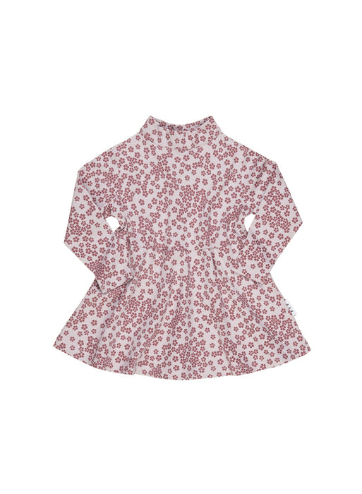 HUXBABY FLORAL HIGH NECK DRESS LILAC