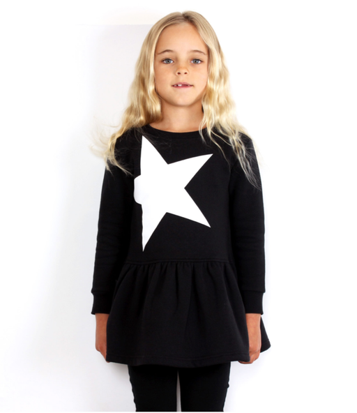 TINY TRIBE STAR DROP WAIST DRESS